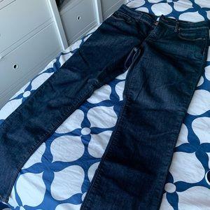 NWOT Loft Curvy Straight Dark Wash Jeans